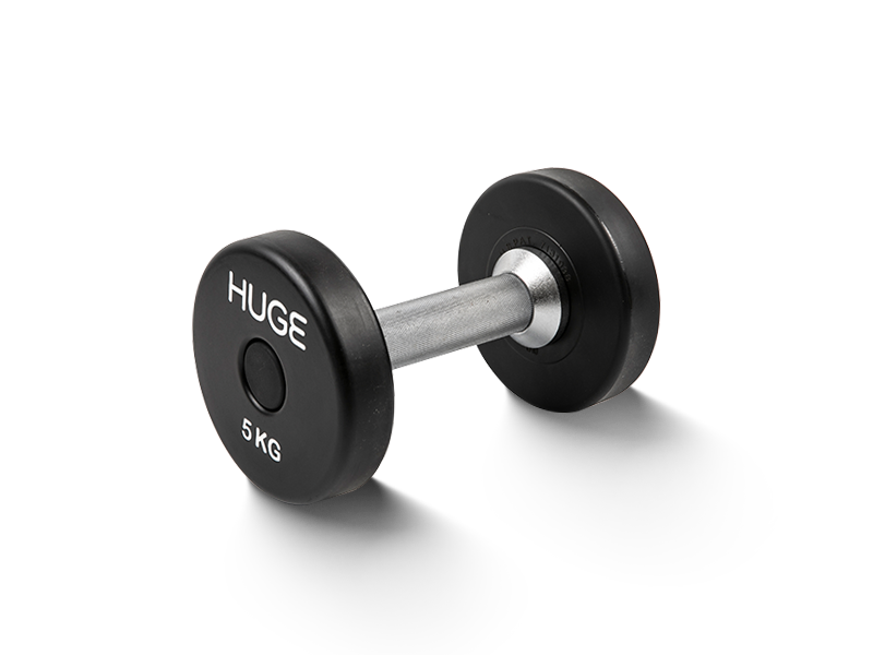 Rubber coated dumbbells 5kg