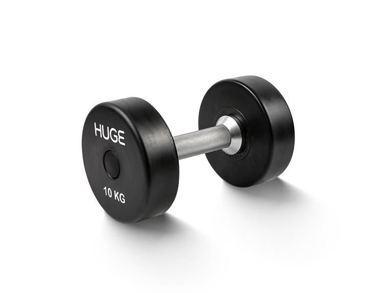 Rubber coated dumbbells 10kg