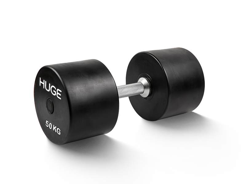 Rubber coated dumbbells 50kg