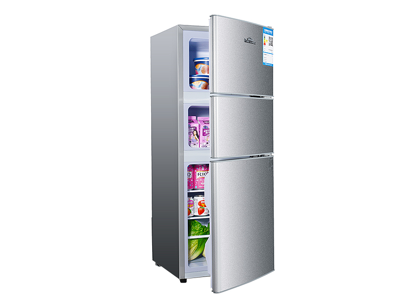 Big capacity three door refrigerator