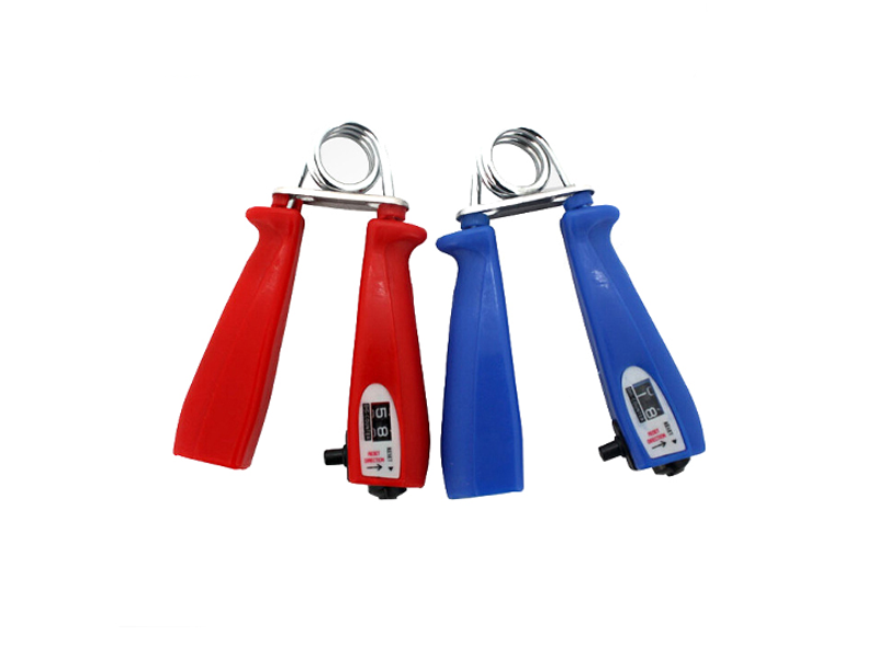 Hand grip with count red blue