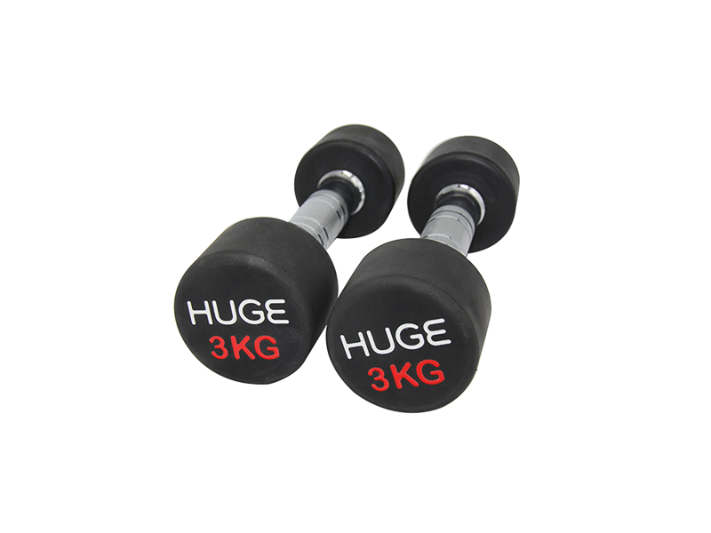 Rubber coated dumbbells 3kg