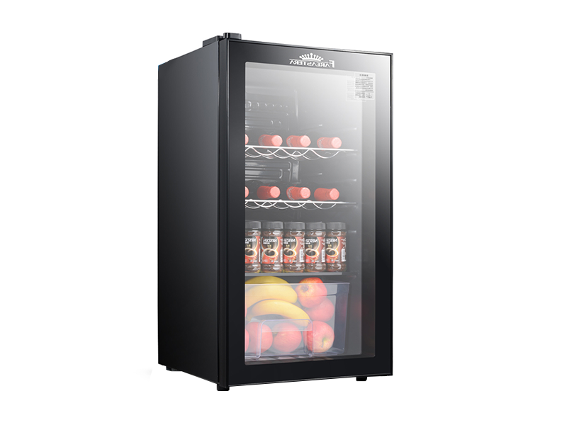 Glass door mini refrigerator wine cooler (Ordinary paragraph)