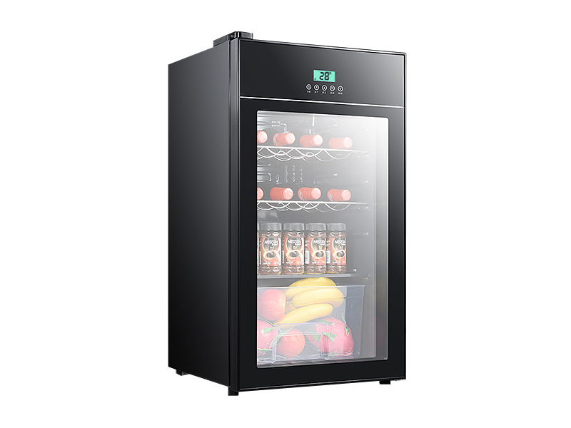 Glass door mini refrigerator wine cooler (Smart money)
